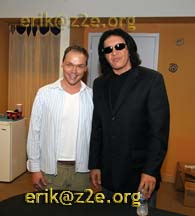 Eric with Gene Simmons