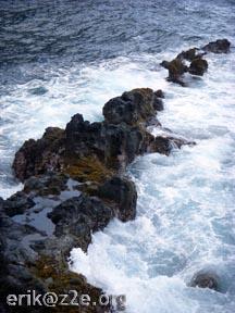 Natural breakwater @ Kaihalulu Red Sand Beach