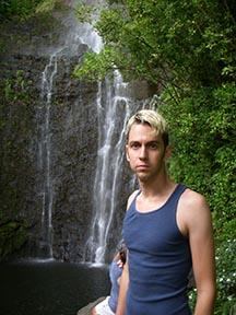 Nate @ waterfall, south of Hana